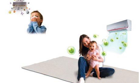 Lưu ý sử dụng máy lạnh trong phòng có trẻ nhỏ
