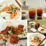 Bún thịt nướng với lò vi sóng