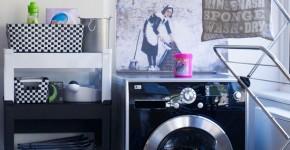 Bày trí máy giặt cho căn nhà chật